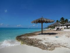 Crowded beaches of Aruba