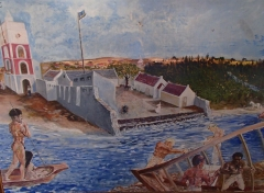 Painting of Fort Zoutman