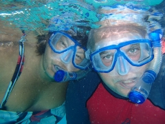Couple of snorkelers