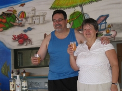 Pam and Pete in Coco Locos