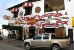 The exterior of Charlie's Bar