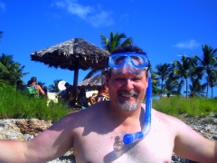 Pete in the water at Arashi Beach