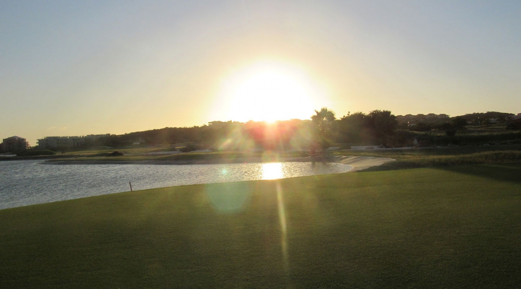 18th hole - sunset