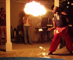 Abdul the fire eater
