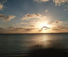 Sunset over Cemetary Beach