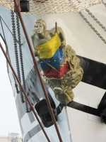 The figurehead on the Simon Bolivar