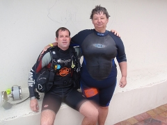 Hans, the Scuba instructor, and Pam