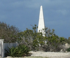 Salt marker in Bonaire