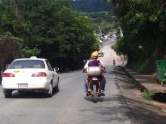 Riding in Roatan