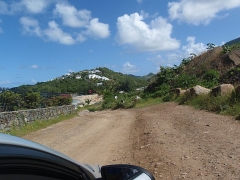 The road to Friar's beach