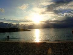 Last sunset at Mullet Bay, St. Maarten